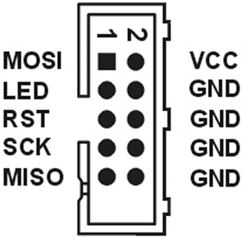 распиновка ISP разъёма avr910