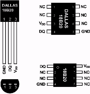Datchik DS18B20 temperature to avr