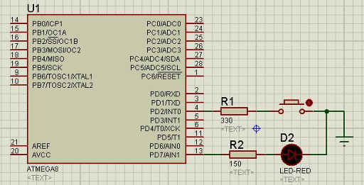 limiting resistor between the button and microcontroller