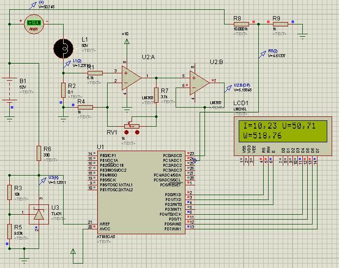микроконтроллере atmega8,